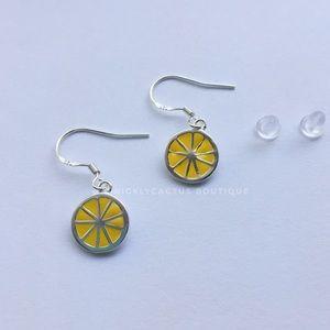 Lemon Drop Earrings .925 Sterling Silver Hook New